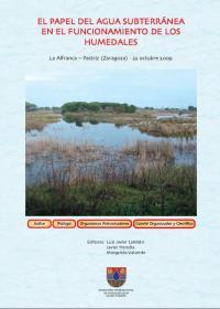 Portada del libro El papel del agua subterránea en el funcionamiento de humedales